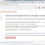 Anmeldung bei der Google Cast Developer Console
